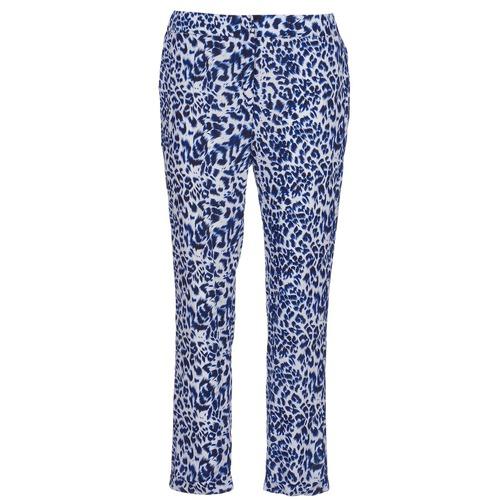 Clothing Women Wide leg / Harem trousers See U Soon CLARA Blue / Black