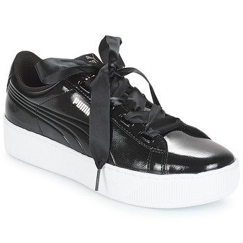 Shoes Women Low top trainers Puma VIKKYPFP RIB182 Black