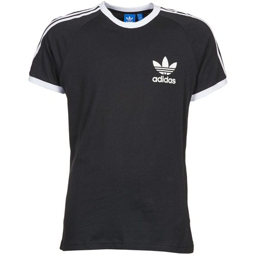 Clothing Men short-sleeved t-shirts adidas Originals SPORT ESS TEE Black
