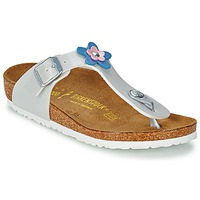 Shoes Girl Sandals Birkenstock GIZEH FLOWER Pearly White