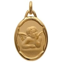 Watches Women Pendants Blue Pearls Angel Christ Woman-Man-Child and Yellow Gold Plated Pendant Other