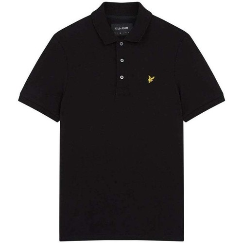 Clothing Men short-sleeved polo shirts Lyle And Scott Vintage SS Pique Polo Shirt black