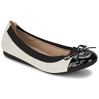 Shoes Women Flat shoes Moony Mood ELALA White / Black