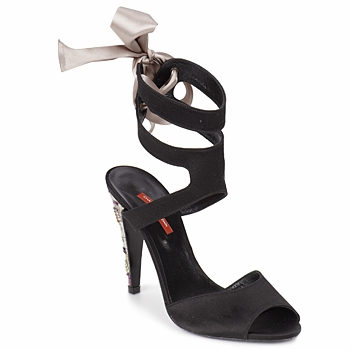 Shoes Women Sandals Charles Jourdan MADNESS Black / Sable