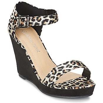 Shoes Women Sandals Moony Mood IVONGA Black / Leopard