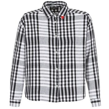 Clothing Women Shirts Maison Scotch FRINDA Black / White