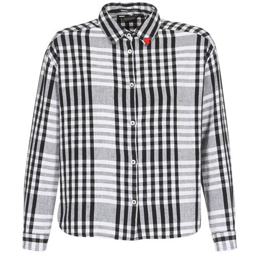 Clothing Women Shirts Maison Scotch FRINDA Black / White