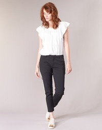 Clothing Women Cargo trousers Maison Scotch ZERATRE Black / White