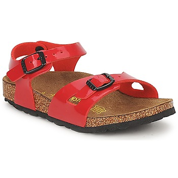 Shoes Girl Sandals Birkenstock RIO Red / Verne