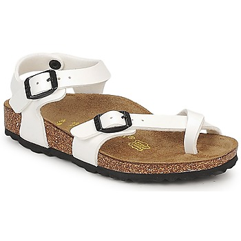 Shoes Girl Sandals Birkenstock TAORMINA White / Verne