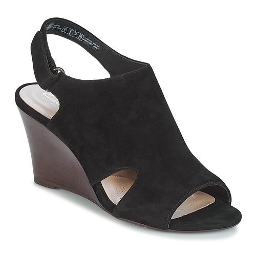 Shoes Women Sandals Clarks Raven Mist  black / Sde