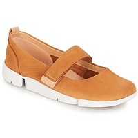 Shoes Women Flat shoes Clarks Tri Carrie Tan / Nubuck