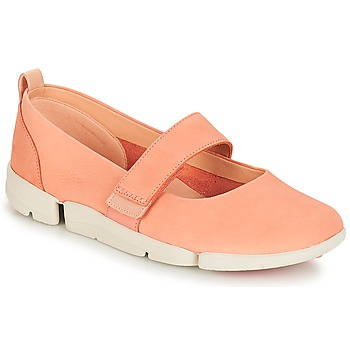 Shoes Women Flat shoes Clarks Tri Carrie Pink / Nubuck