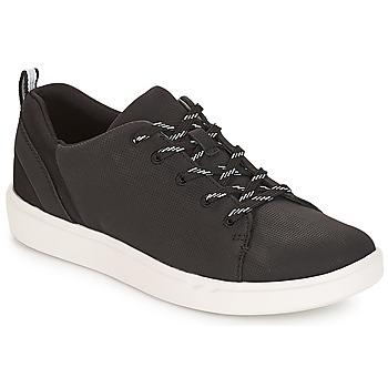 Shoes Women Low top trainers Clarks Step Verve Lo. /  black