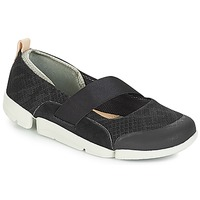 Shoes Women Flat shoes Clarks Tri Allie  black / Combi