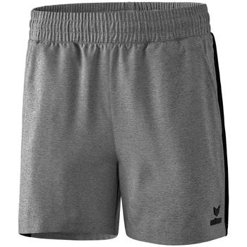 Clothing Women Shorts / Bermudas Erima Short femme  Premium One 2.0 gris chiné/noir