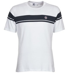 Clothing Men short-sleeved t-shirts Sergio Tacchini YOUNG LINE White