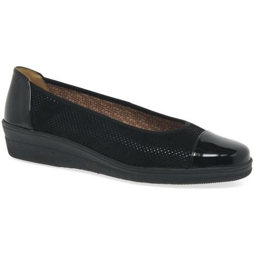 Shoes Women Flat shoes Gabor Petunia Womens Patent Accent Low Heeled Pumps black