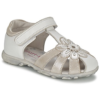 Shoes Girl Sandals Start Rite PRIMROSE White / Silver
