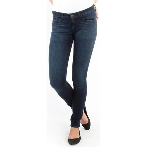 Clothing Women Skinny jeans Wrangler Jeans   Courtney blue shelter W23SU466N blue