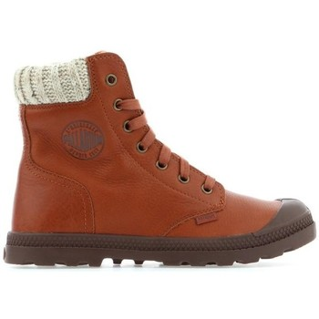Shoes Women Hi top trainers Palladium Pampa HI Knit LP 95172-251M brown