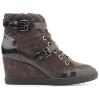 Shoes Women Hi top trainers Geox D Eleni C D6467C-021HI-C6004 brown