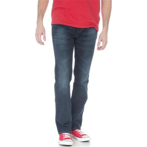 Clothing Men straight jeans Wrangler Arizona Stretch W12O8343C granatowy