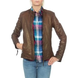 Clothing Women Jackets / Blazers Wrangler skórzana  WR4030ZC81 brown