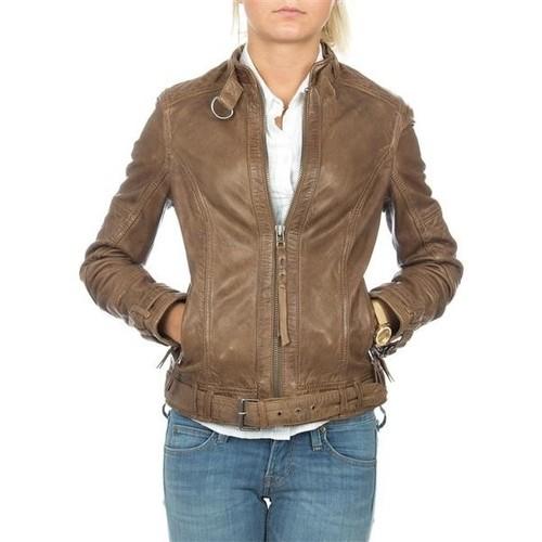 Clothing Women Jackets / Blazers Wrangler skórzana  Montana WR4044ZCBR brown