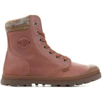 Shoes Women Mid boots Palladium Pampa Knit LP F 95172-733-M brown