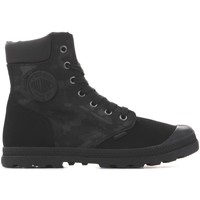 Shoes Women Mid boots Palladium Pampa HI Knit LP Camo 95551-008 black
