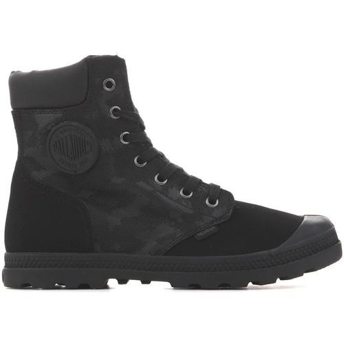 Shoes Women Mid boots Palladium Pampa HI Knit LP Camo 95551-008 black