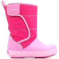Shoes Children Snow boots Crocs LODGEPOINT SNOW K 204660-6LR pink