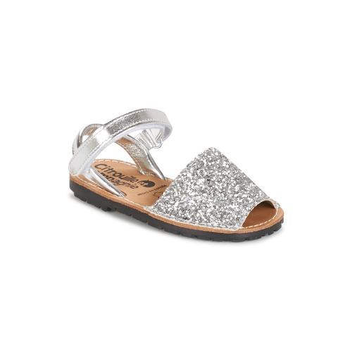Shoes Girl Sandals Citrouille et Compagnie SQUOUBEL Silver