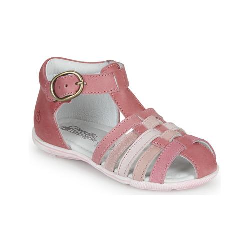 Shoes Girl Sandals Citrouille et Compagnie VISOTU Pink / Multicolour