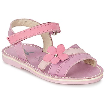 Shoes Girl Sandals Citrouille et Compagnie VIZIEL Purple / Pink