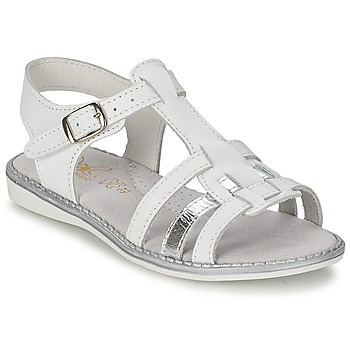 Shoes Girl Sandals Citrouille et Compagnie ROLUI White
