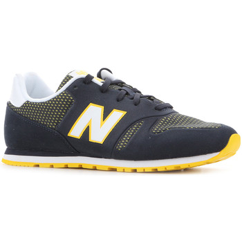 Shoes Women Low top trainers New Balance KD373NRY black, white, yellow