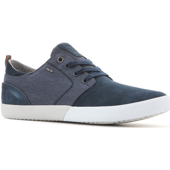 Shoes Men Low top trainers Geox U Smart B Suede+Wash.Canvas U82X2B 022NB C4000 navy