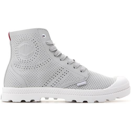 Shoes Women Hi top trainers Palladium Mid LP Perf 95756-073-M grey