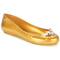 Shoes Women Flat shoes Melissa VW SPACE LOVE 20 Honey bee Gold