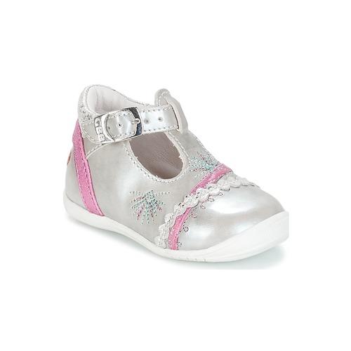 Shoes Girl Flat shoes GBB MARINA Vte / Silver / Kezia