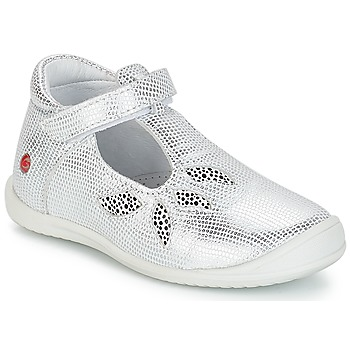 Shoes Girl Flat shoes GBB MARGOT Vte / Silver