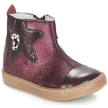 Shoes Girl Mid boots GBB LIAT Vte / Bordo
