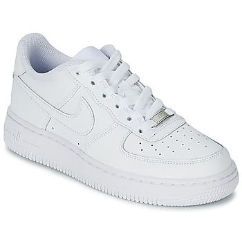 Shoes Children Low top trainers Nike AIR FORCE 1 Blanc