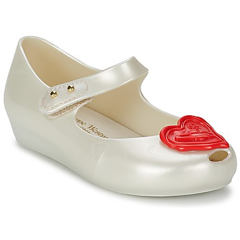 Shoes Girl Flat shoes Melissa VW MINI ULTRAGIRL Pearl / Red