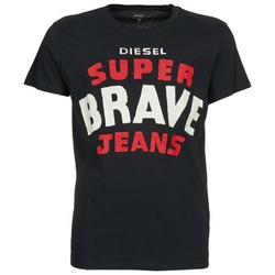 Clothing Men short-sleeved t-shirts Diesel T-ASTERIOS Black
