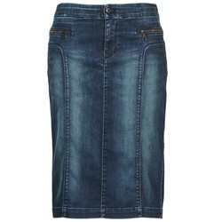 Clothing Women Skirts Diesel DE-TRENKER Blue / Dark