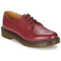 Shoes Men Derby Shoes Dr Martens 1461 PW Red / Cherry