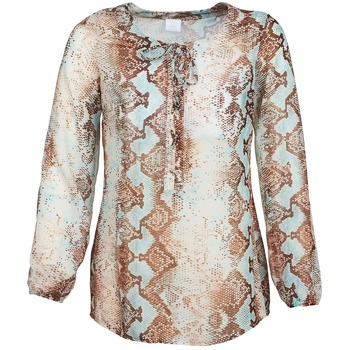 Clothing Women Tops / Blouses Alba Moda LOTTA Blue / Brown